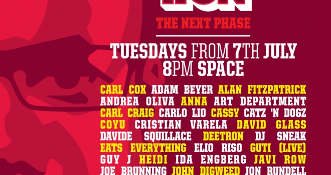 Carl Cox: Music Is Revolution at Space, Ibiza