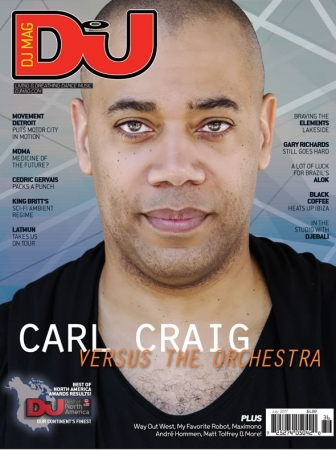 Carl Craig cover of July 2017 DJ Mag